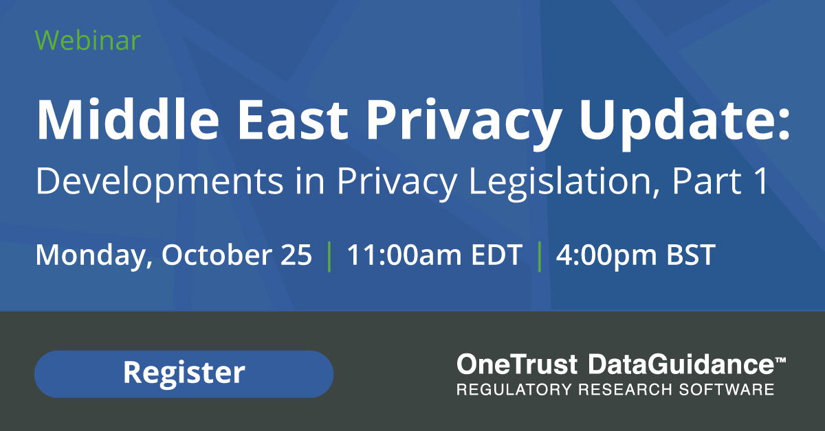 Middle East Privacy Update