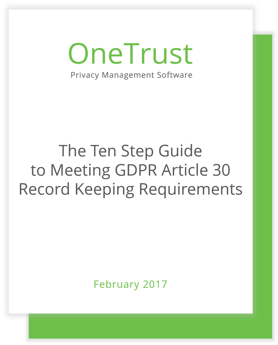 The Ten Step Guide To Meeting GDPR Article Record Keeping - Data mapping requirements