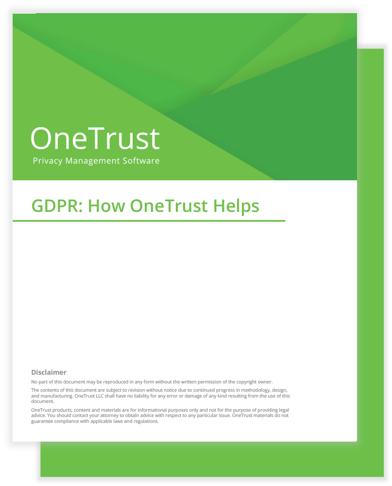 Gdpr Compliance Products Onetrust Data Breach Policy Template