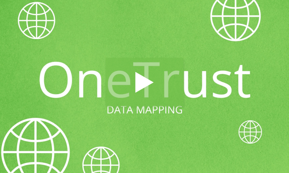 Data Mapping Automation Products OneTrust - Data mapping exercise
