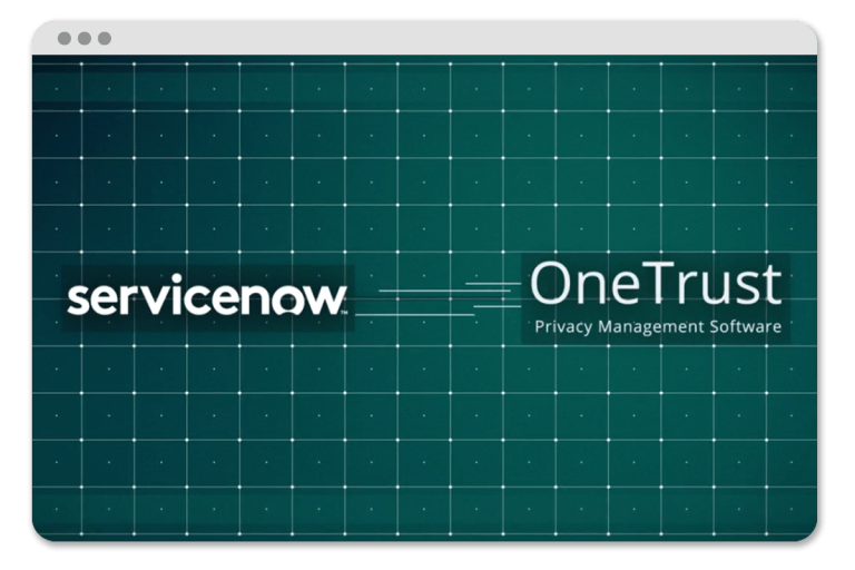 Service Now Demo | OneTrust