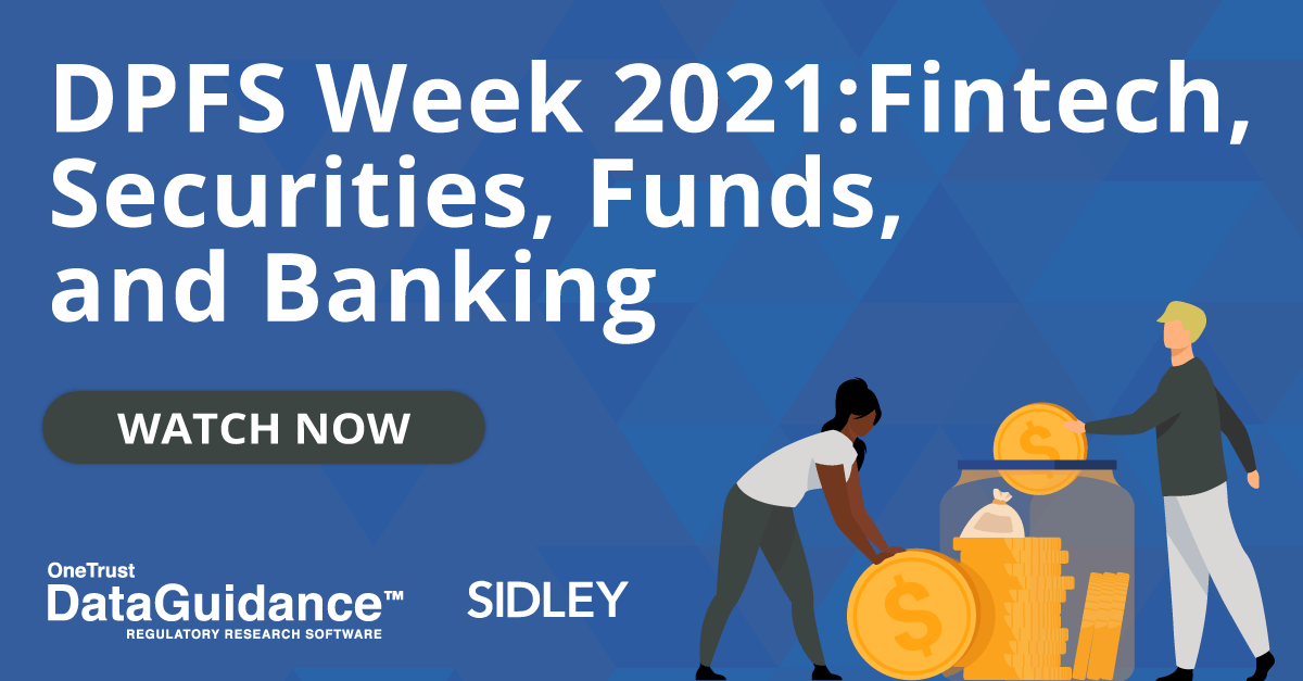 Data Protection Financial Services Week 2021: Fintech ...
