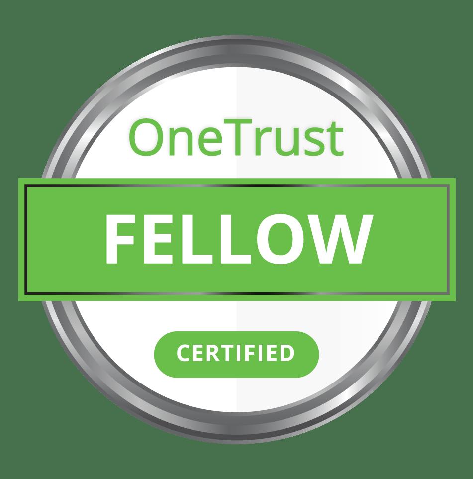 OneTrust Fellow Certification Badge