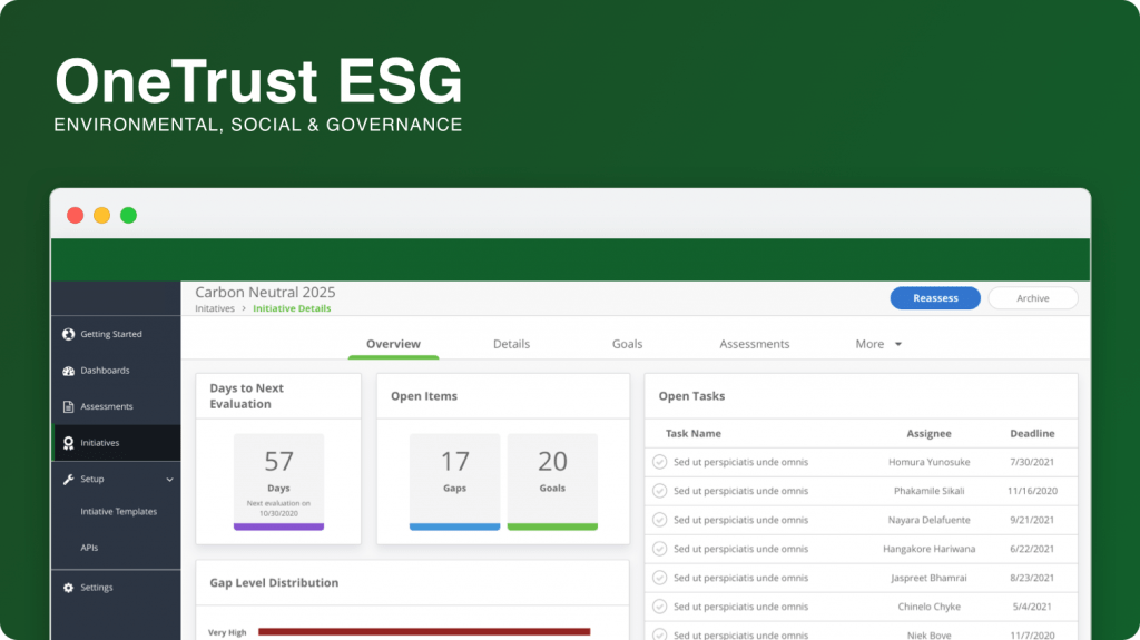OneTrust ESG Platform