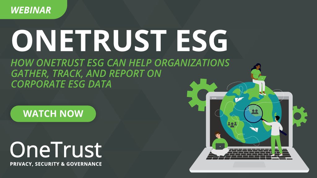 Webinar - Gather, Track, and Report Corporate ESG Data