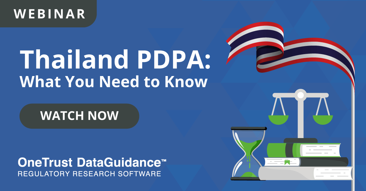 Watch Thailand PDPA Webinar