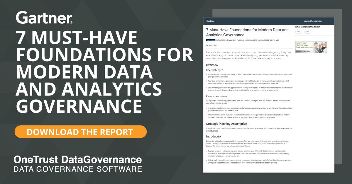 Gartner Data and Analytics Governance Report