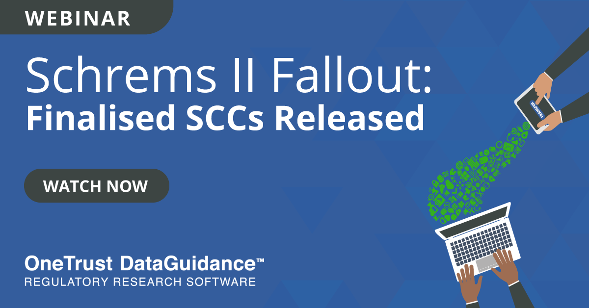 Finalised SCCs Released Recording