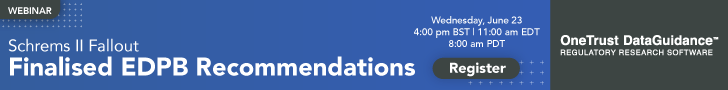 Finalised EDPB Recommendations Webinar