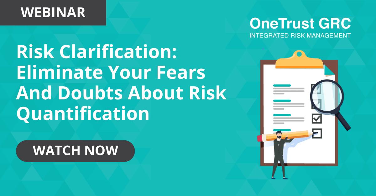 information on quantifying risk webinar