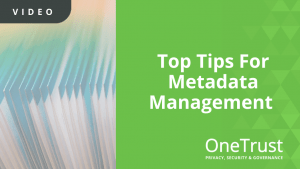 Top Tips For Metadata Management