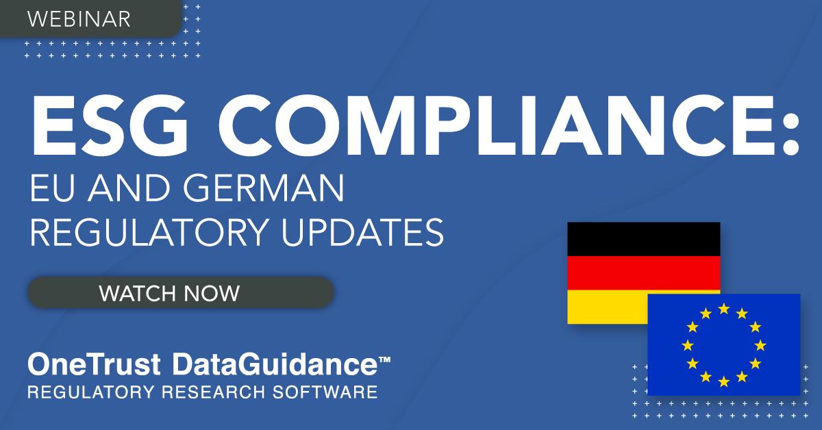 ESG Compliance Webinar Recording