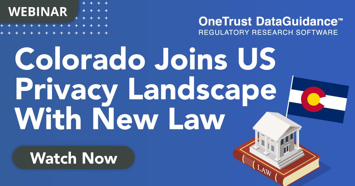 Colorado Privacy Act Webinar Recording