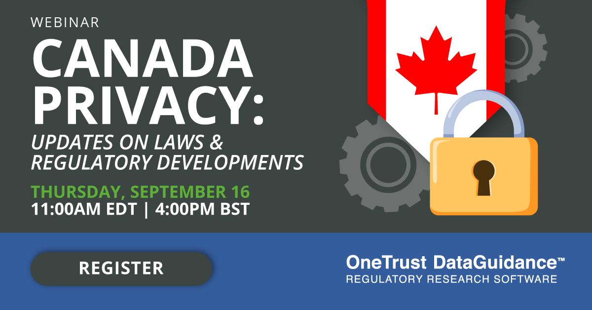 Canada Privacy Updates Webinar
