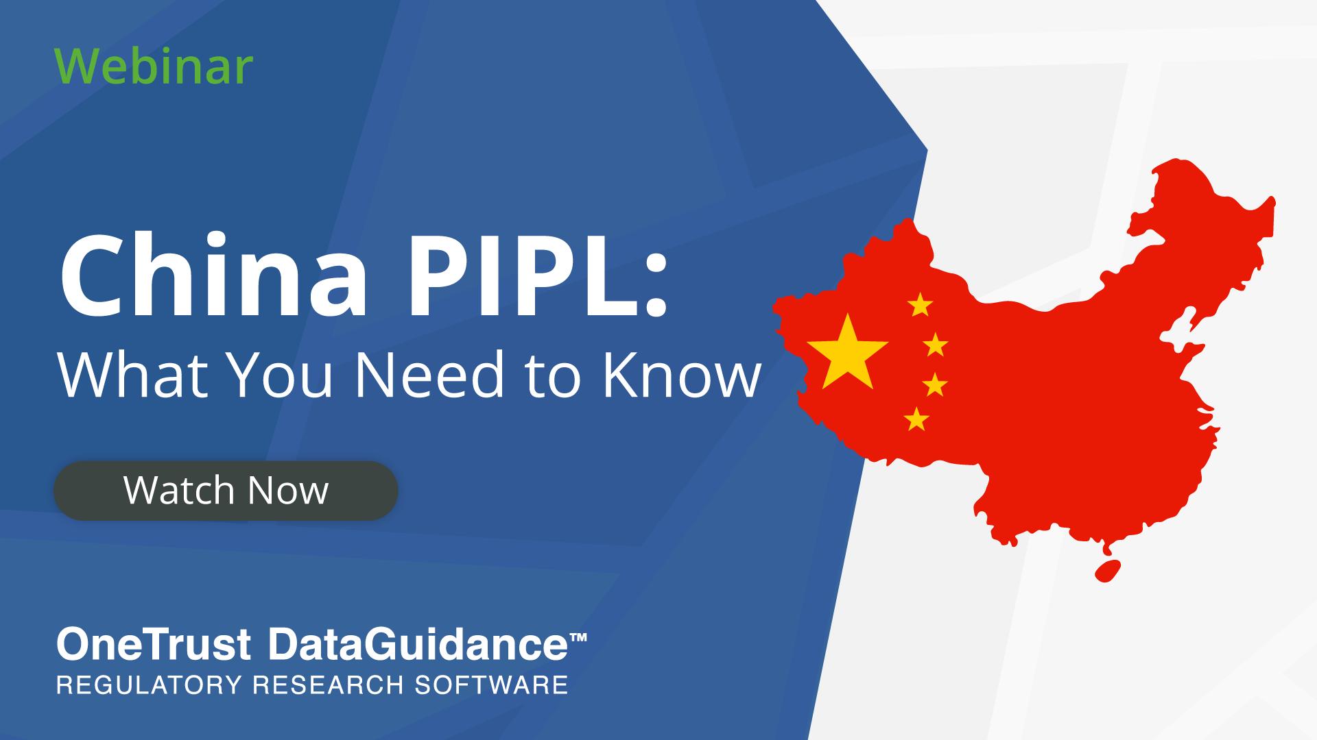 China PIPL Webinar Recording