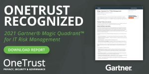 OneTrust Gartner Magic Quadrant 2021