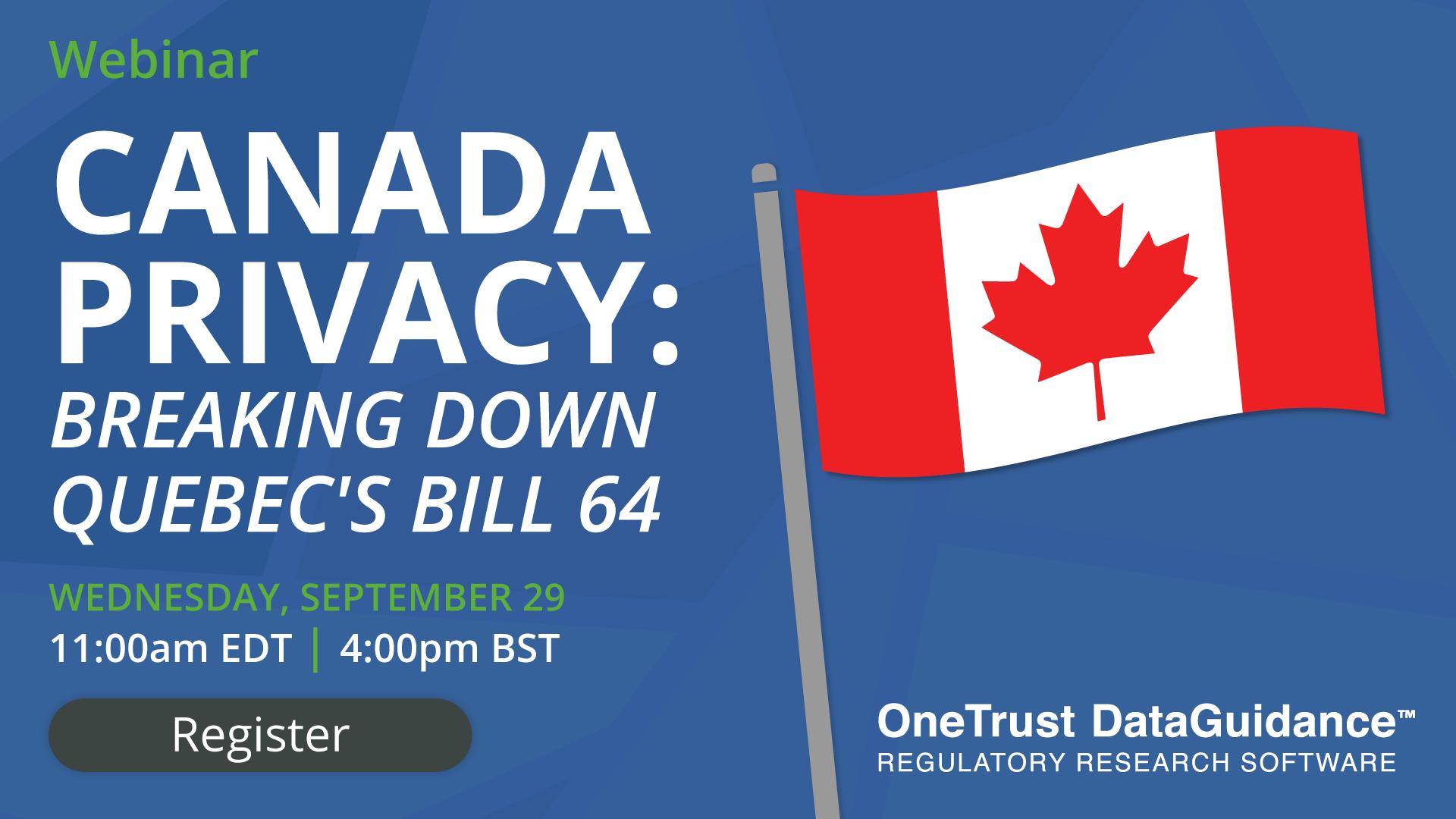 Quebec's Bill 64 Webinar
