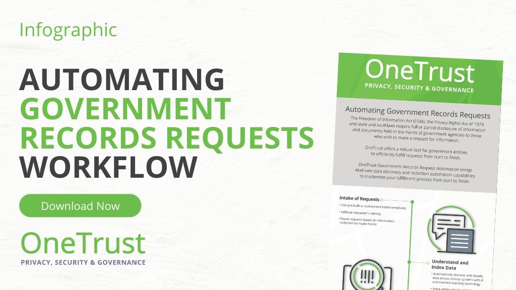 Automation Government Records Requests Workflow Infographic