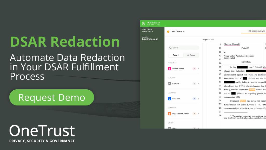DSAR Redaction Demo