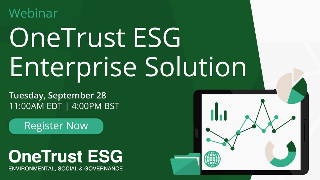 OneTrust ESG Enterprise Solution Webinar